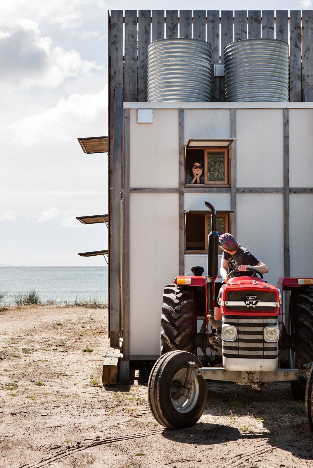 A Family of Five Lives Sustainably in This Tiny, Mobile Beach Hut