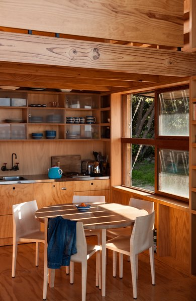 Keeping sustainability in mind, the architects have cladded the structure's interior with timber.