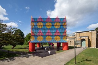 The popular Dulwich Pavilion returns with The Colour Palace, a dazzling 32-foot cube created by designer Yinka Ilori and architecture studio Pricegore.