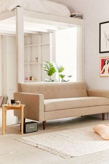 Urban Outfitters home collection is defined by cool color tones and classic midcentury influences.