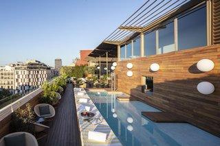 Sir Victor's rooftop pool.