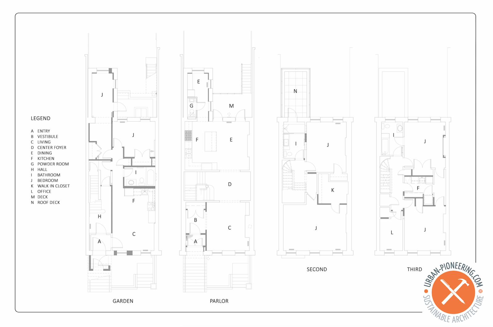Clinton Hill Brownstone floor plan  Photo 31 of 31 in Before & After: An Italianate-Style Brownstone in Brooklyn Rises Above Years of Ad-Hoc Remodels