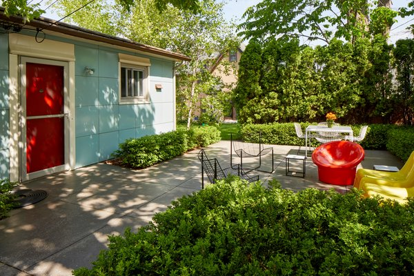 Extensive landscaping enhances the exterior spaces and extends the living to the outdoors.