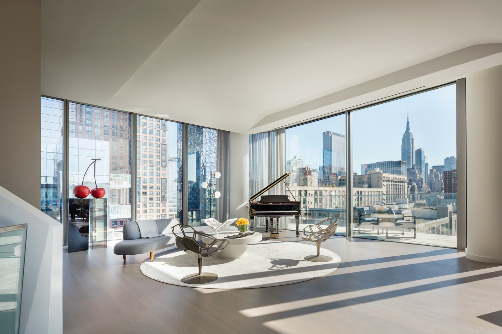 Zaha Hadid New York Penthouse living area