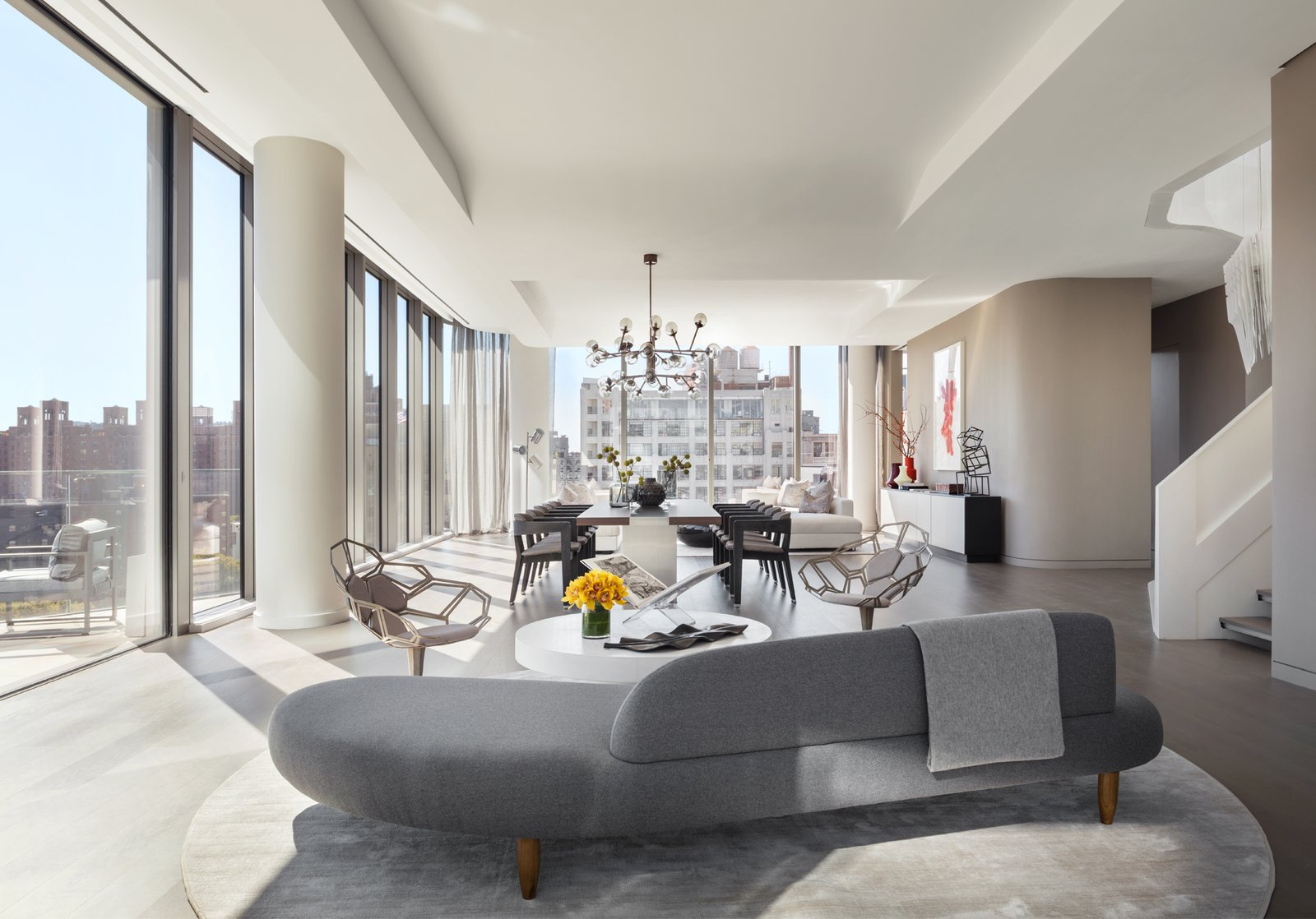 Zaha Hadid New York Penthouse living area