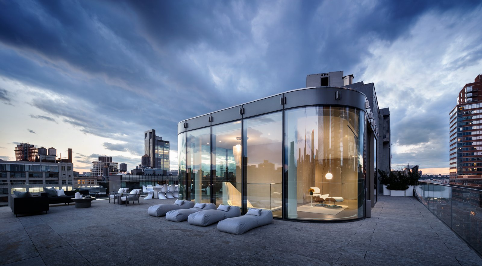 Zaha Hadid New York Penthouse terrace