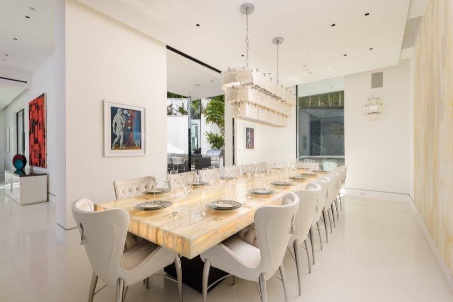 Bette Davis Beverly Hills Home dining room