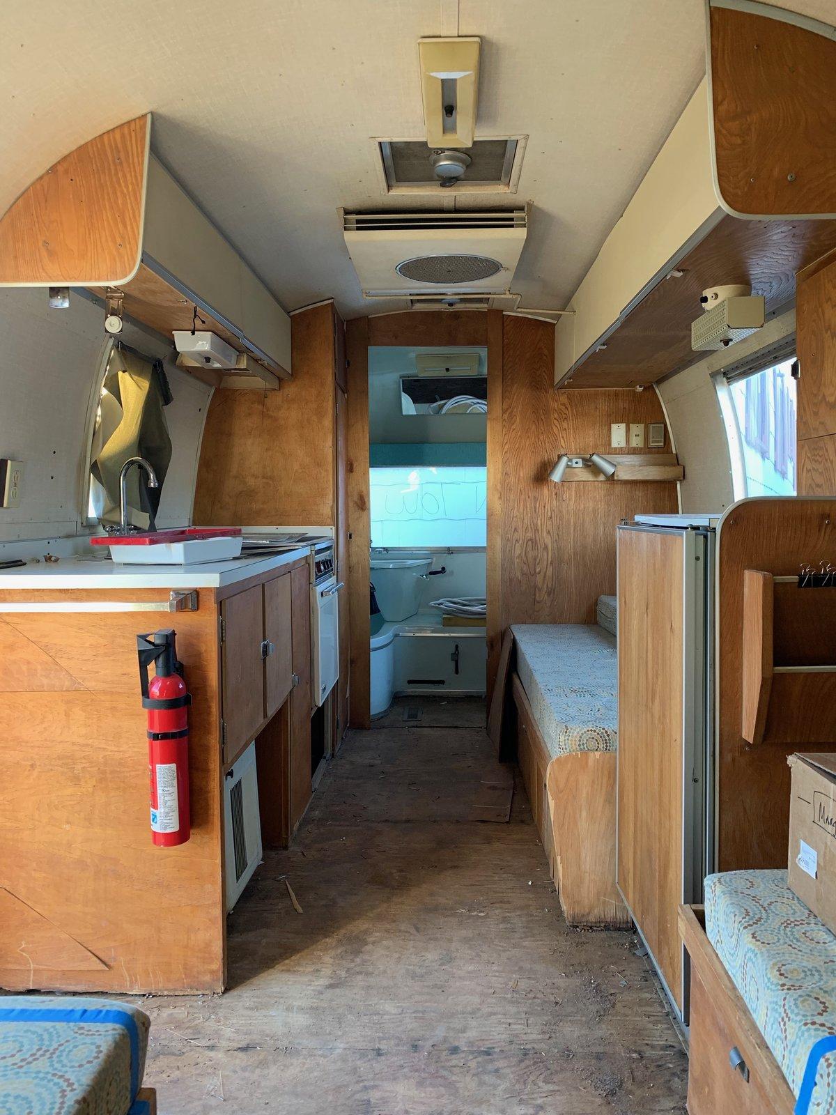 Before: Margo Airstream interior