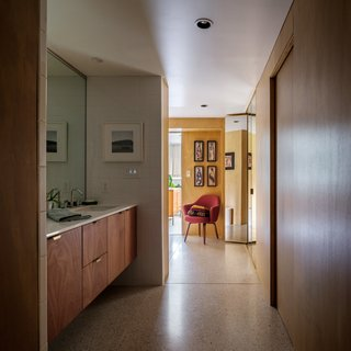 Terrazzo floors by Terrazzio run throughout the house.