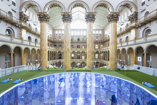 First Look: A Gigantic Lawn Just Popped Up Inside the National Building Museum