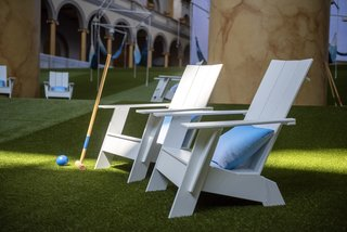 Attendees can play traditional lawn games like croquet and bocce ball.