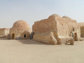 Kanye West's domed prefab designs are influenced by Star Wars filming locations in southern Tunisia.