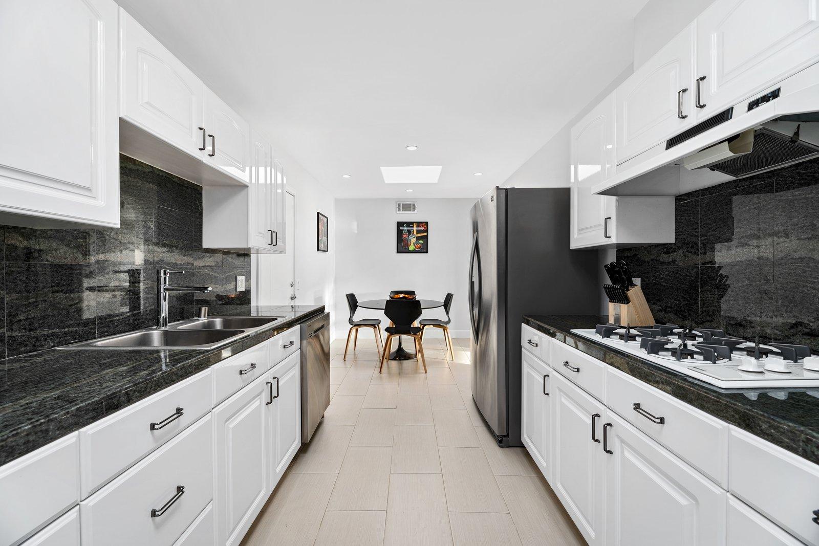 Neutra Stilt Home galley kitchen