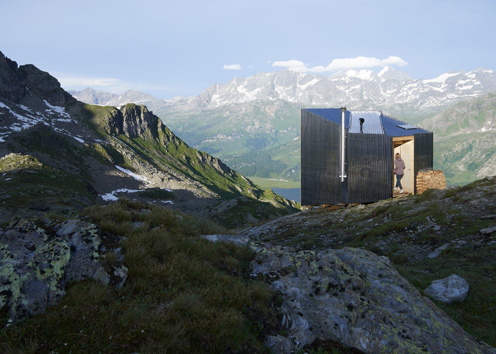 On Mountain Hut exterior