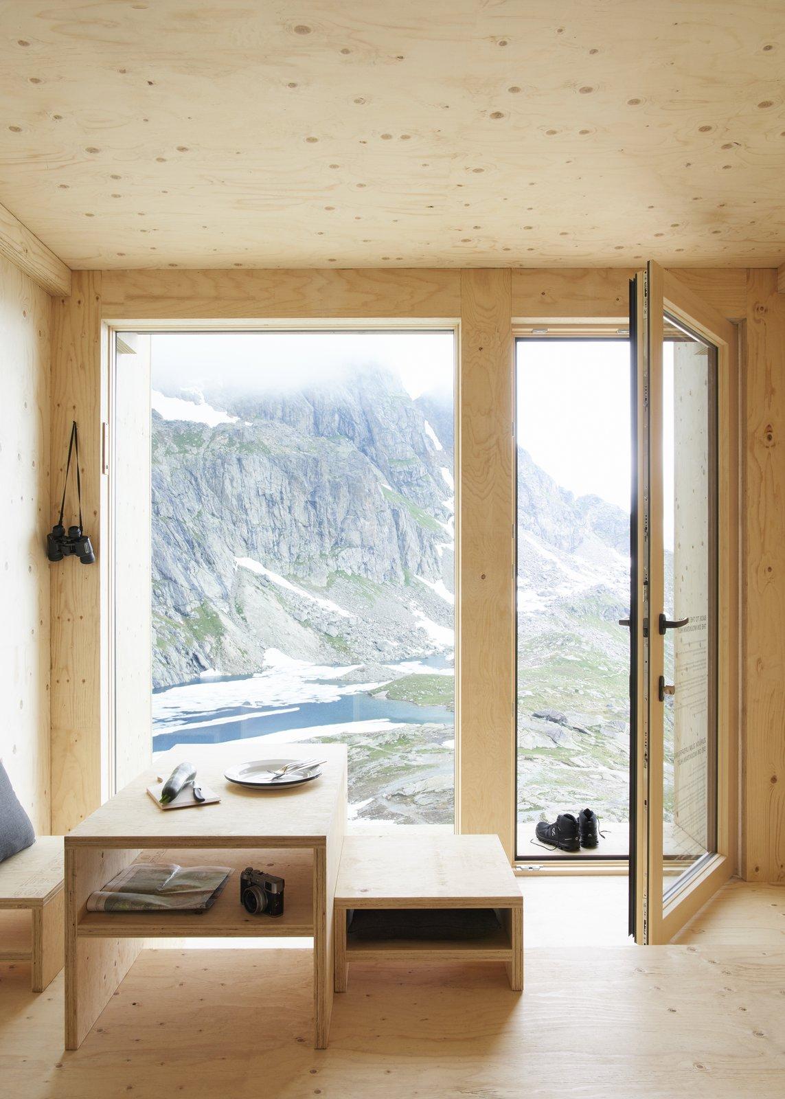 On Mountain Hut interior