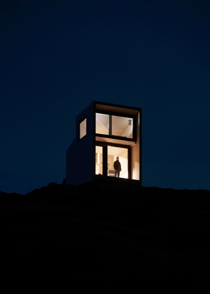 At nightfall, the remote cabin is ideal for stargazing.