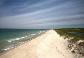Almost guaranteeing privacy, the landholding includes over a mile of private Atlantic Ocean beachfront. The beach runs toward the more famous Cliffs of Gay Head on Martha's Vineyard.