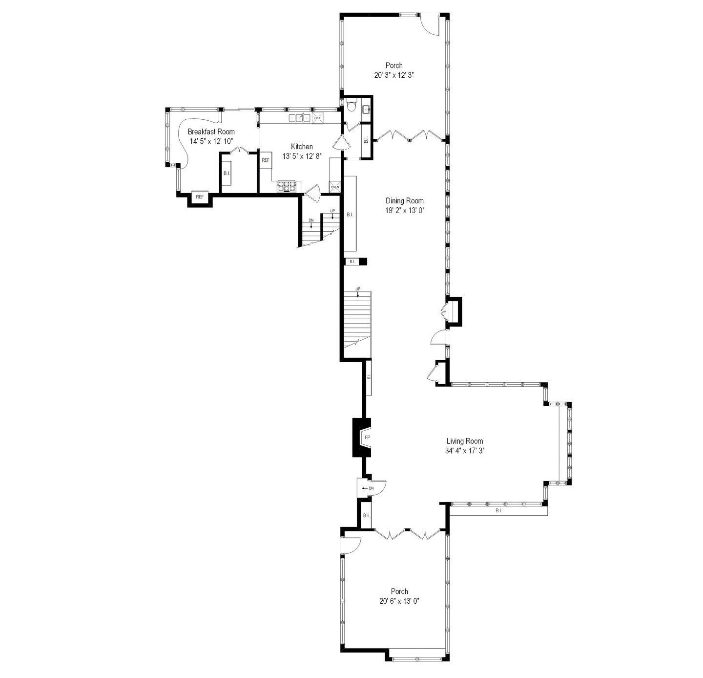 Frank J. Baker House Frank Lloyd Wright plan