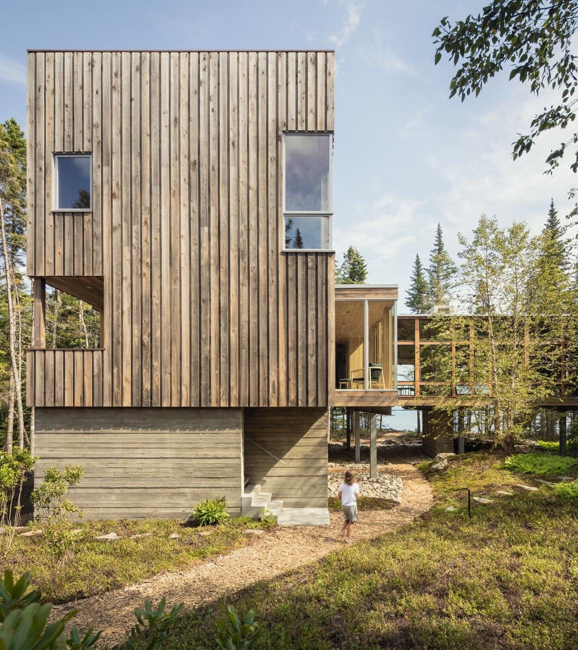 Englishman Bay Retreat by Whitten Architects wood-clad exterior