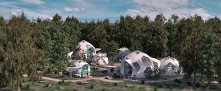 The domes can be used to build thriving communities that are in step with nature.