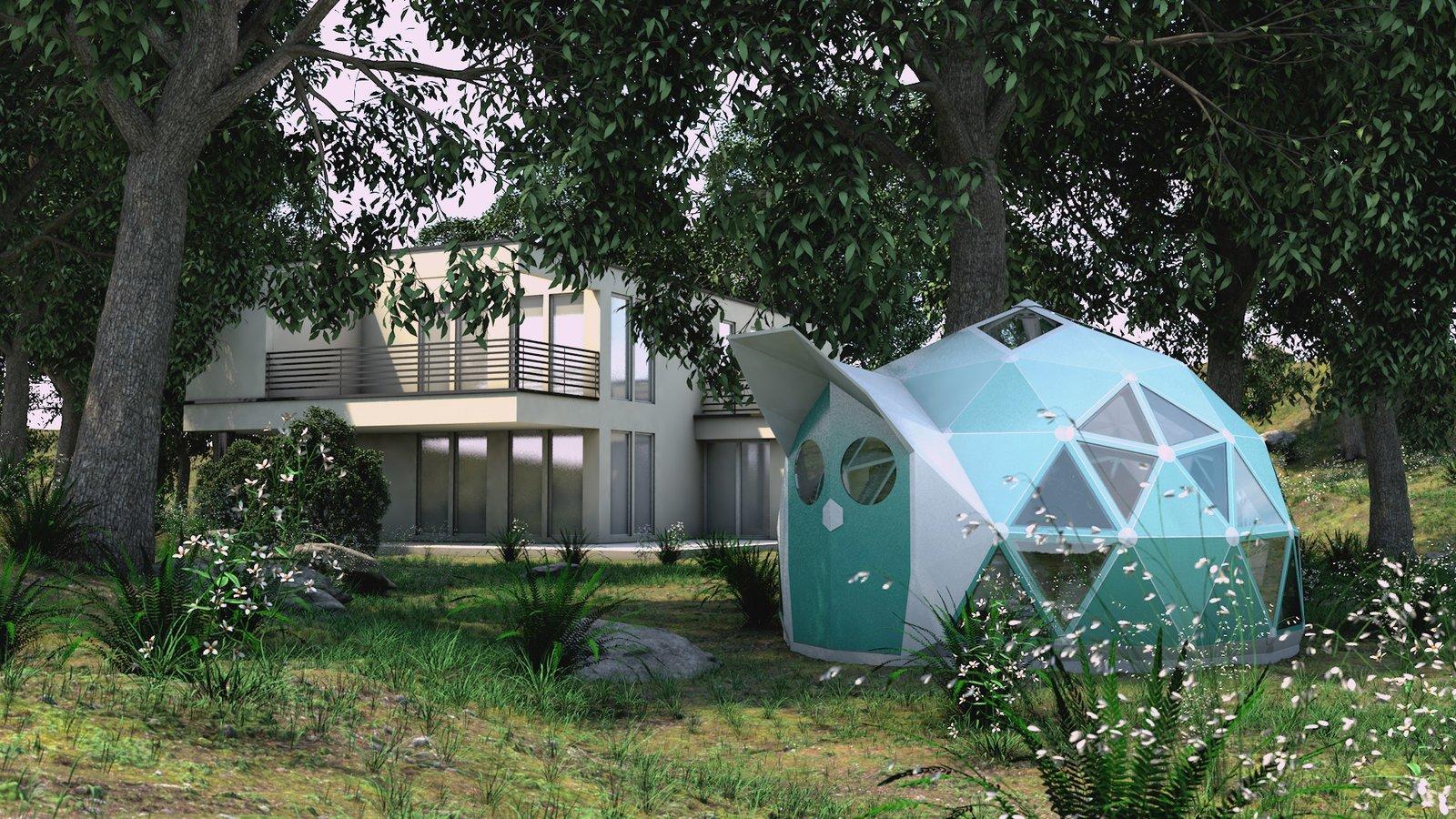 Geoship geodesic dome homes