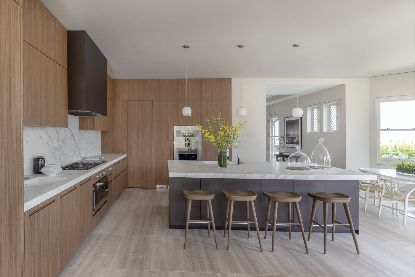 950 Lombard Street San Francisco marble and wood kitchen