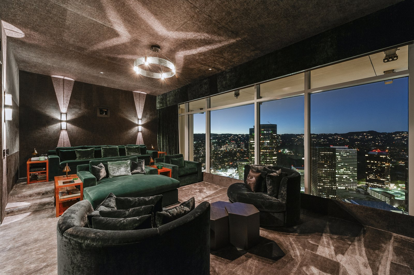 Century City penthouse Scott Joyce LM Pagano movie theater
