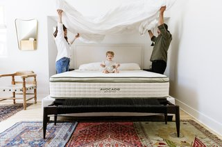 Ptalis with her husband and daughter. The young family chose an organic Avocado Mattress for their master bedroom and guest bedrooms.