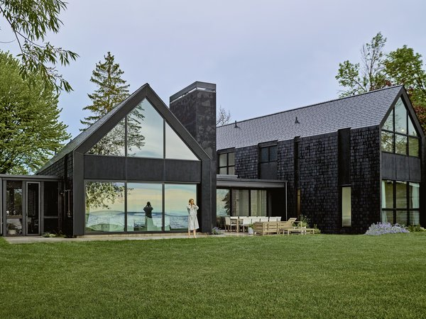 This Wisconsin Lake House Is Sheathed in Tiles Made of Post-Industrial Waste