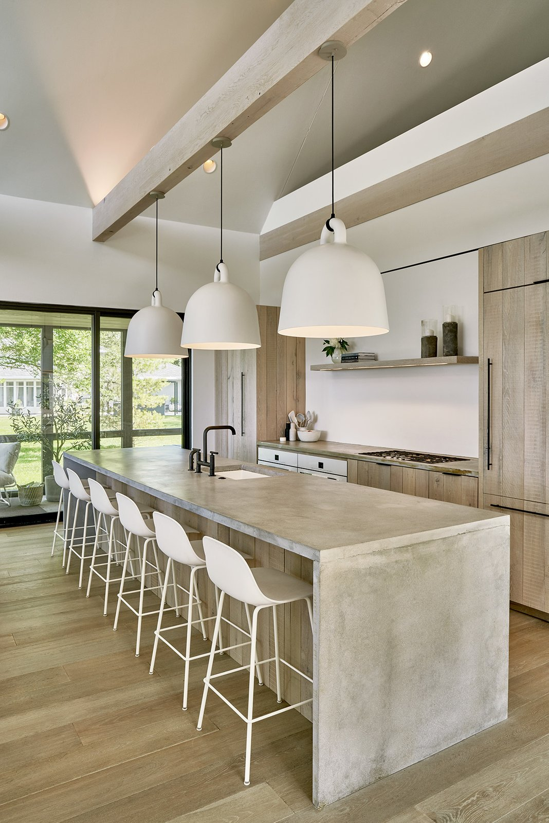 Photo 1 of 286 in Kitchen Concrete Photos from This Wisconsin Lake House Is  Sheathed in Tiles Made of Post-Industrial Waste - Dwell