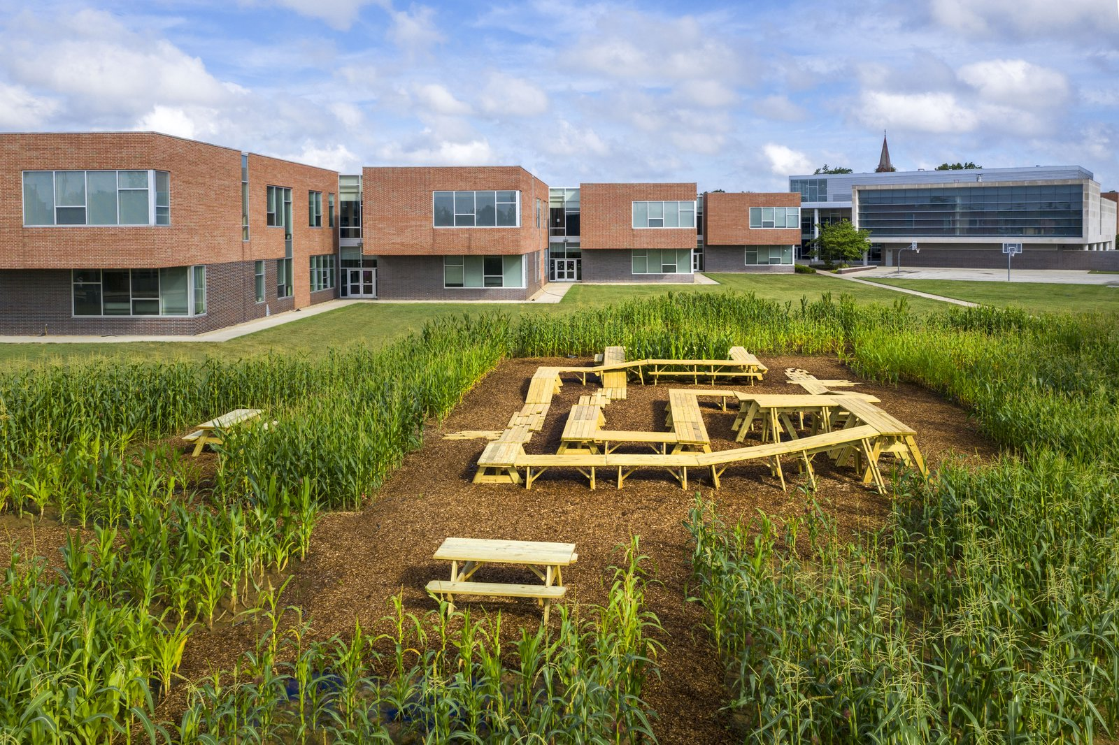 MASS Design Group cultivated a cornfield on the grounds of Central Middle School to foster conversation about food production and consumption.  Photo 4 of 11 in Here's Why You Need to Visit Columbus, Indiana This Year