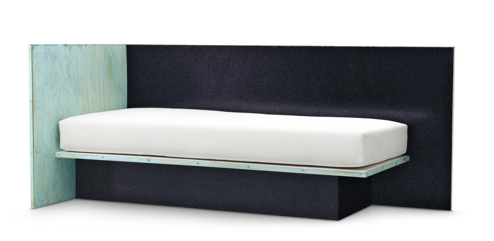 A Brass and Lacquered Wood Daybed by Green River Project.