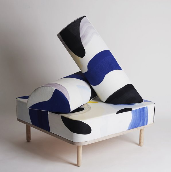 AIO by MIJO Studio, with its sculptural shapes and dynamic hand printed pattern.