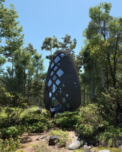 A 3D-Printed Pod Home Designed For Mars Is Now Bookable Here on Earth