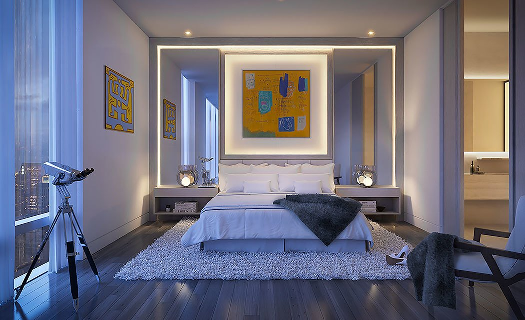 New York City penthouse Fischer + Makooi Architects bedroom