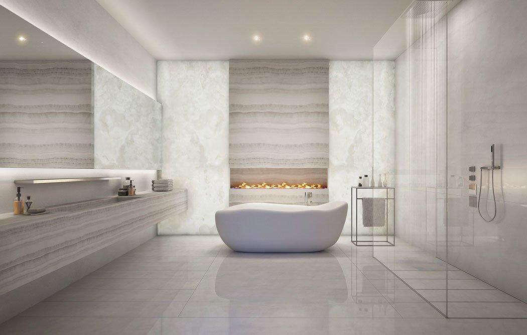 New York City penthouse Fischer + Makooi Architects bathroom