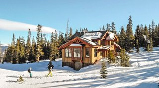 Created in collaboration with nonprofit Summit Huts Association, the Sister's Cabin by Colorado Timberframe is a timber ski hut perched atop Breckenridge's Baldy Mountain that can only be accessed by a 3.5-mile trek. Due to its remote location, the retreat operates entirely off-grid. It was built with prefabricated timber elements and SIPs airlifted to the site, and it features a luxurious interior that can accommodate 14 people.