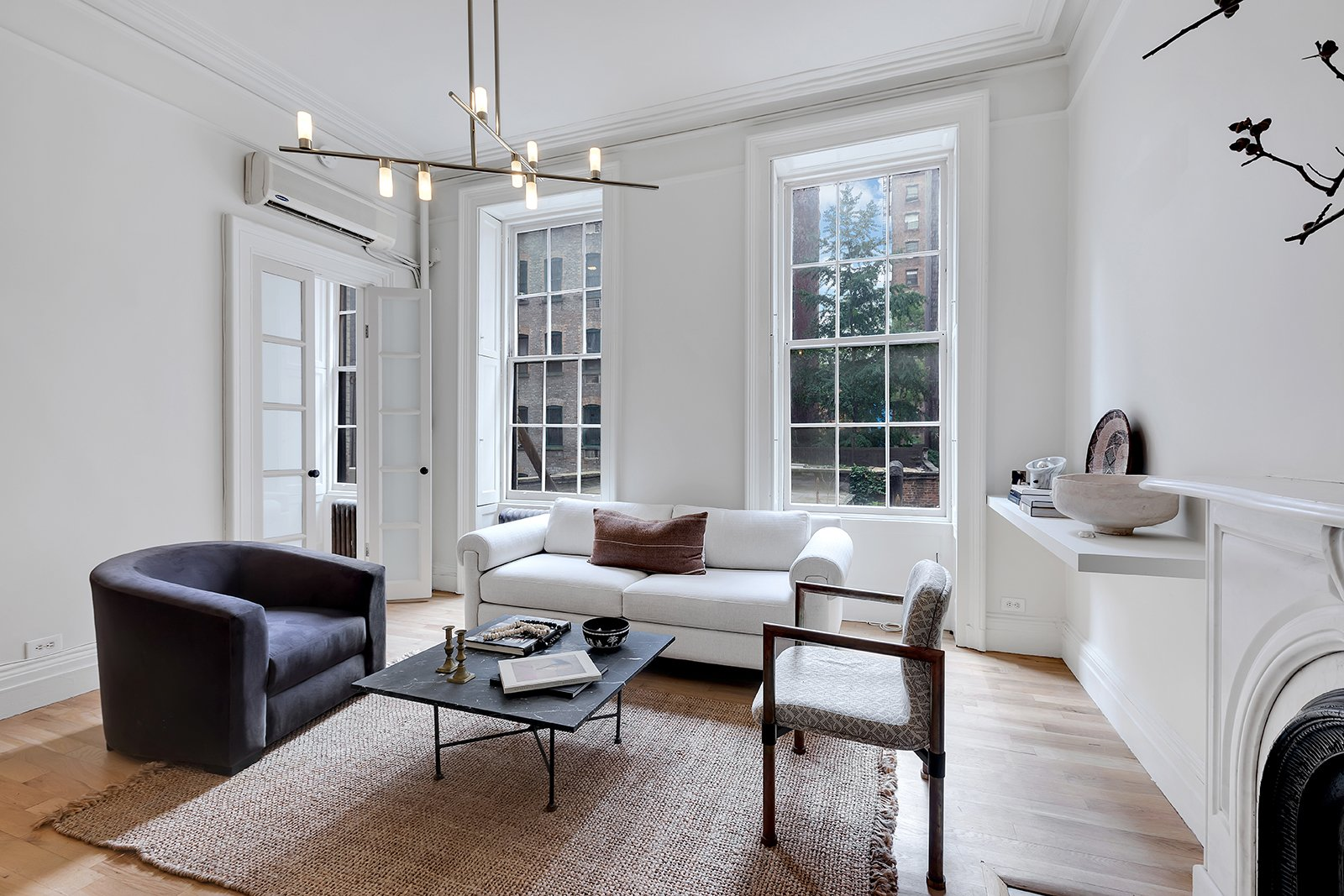Nate Berkus Jeremiah New York City apartment real estate living room