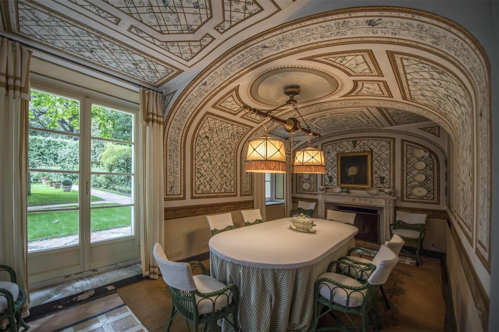 Villa La Vagnola Renzo Mongiardino dining
