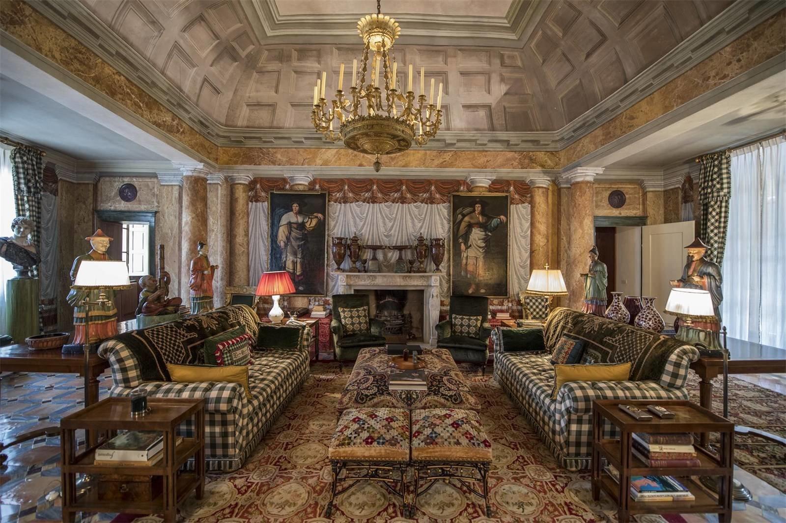 Villa La Vagola Renzo Mongiardino living room