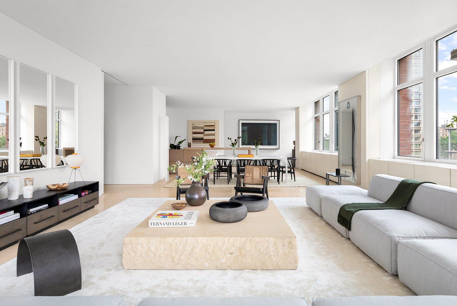 Kanye West and Kim Kardashian's SoHo Apartment living room
