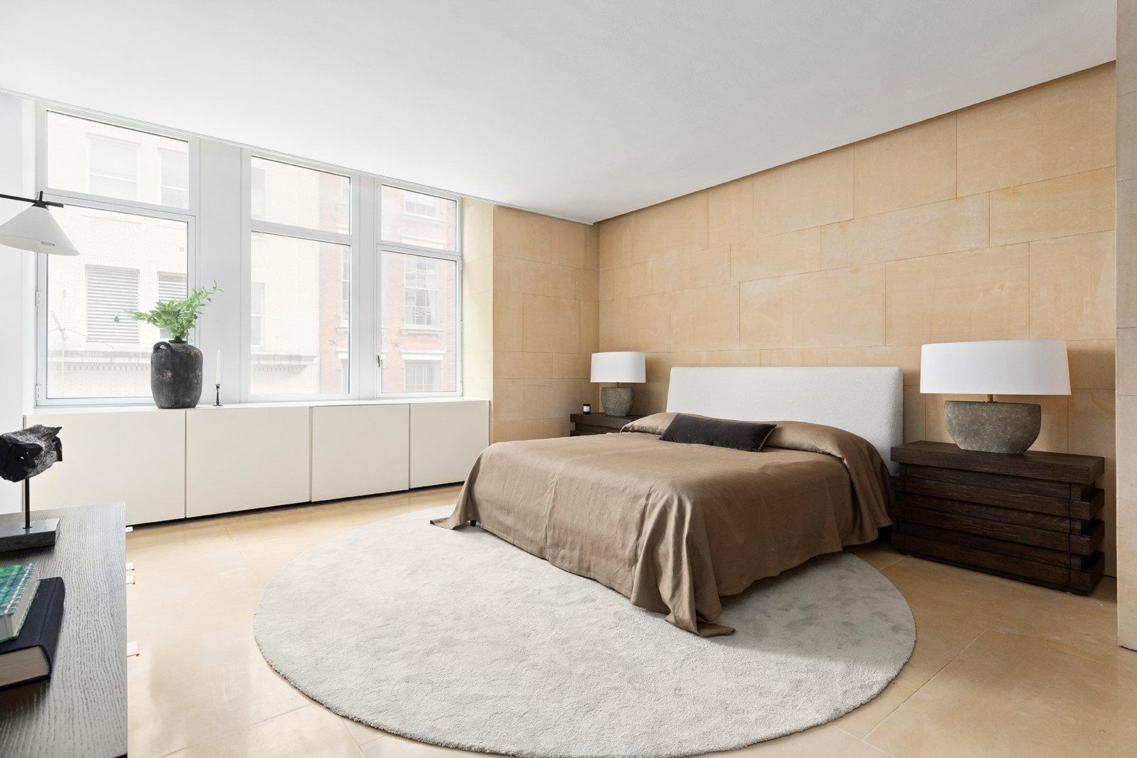 Kanye West and Kim Kardashian's SoHo Apartment bedroom