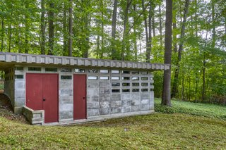 A 264-square-foot annex is located near the rear of the lush .73-acre lot. The open space could be used as a guest house or studio.