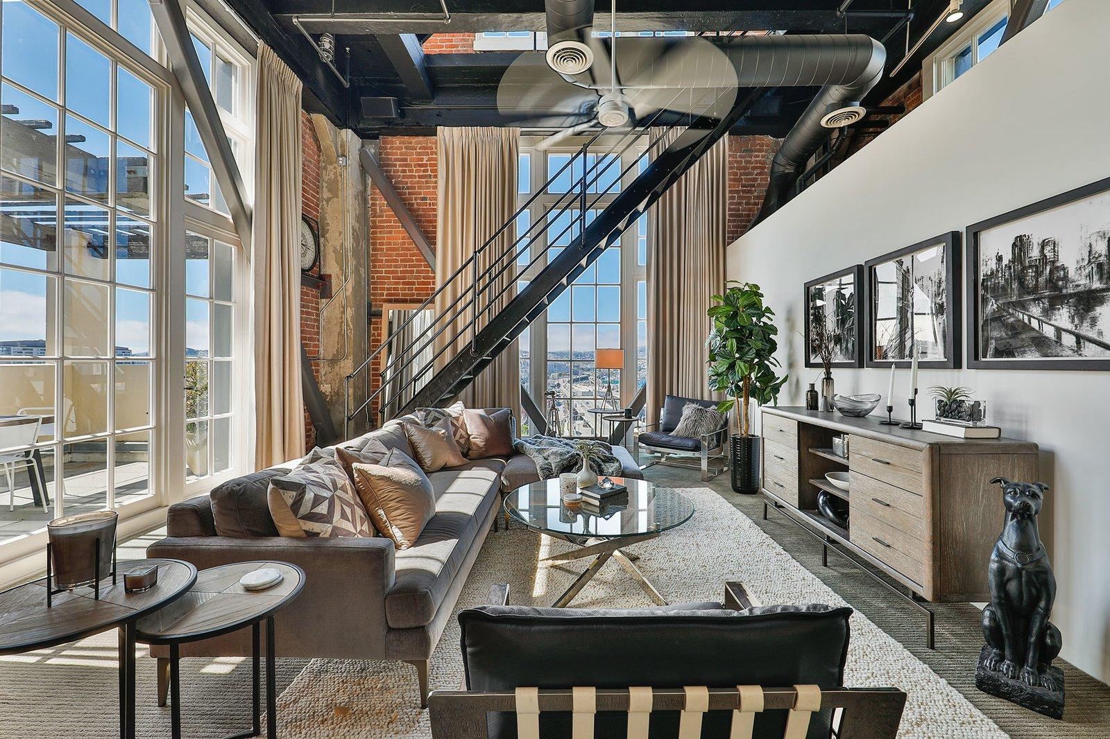 Clocktower penthouse San Francisco real estate living room