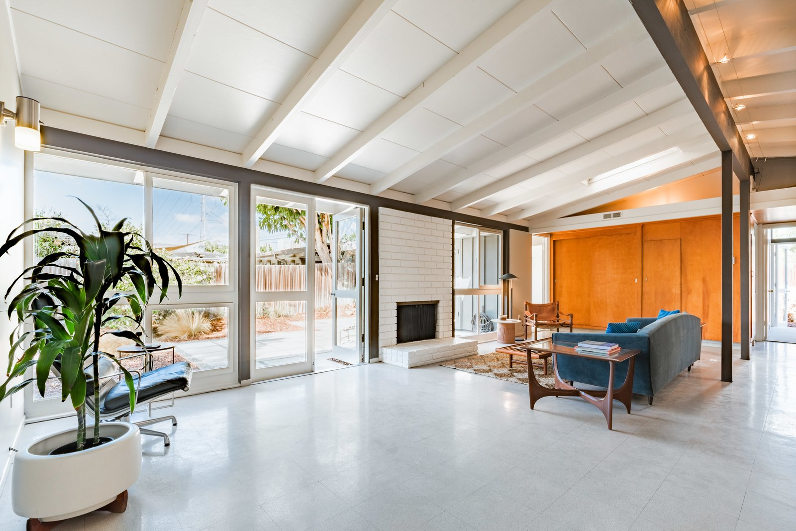 Cliff May Rancho Estates Restoration living room