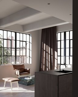 The spaces will also offer oversized daylight factory windows, as well as bathrooms with hand-clipped stone mosaic floors and porcelain stone shower walls.