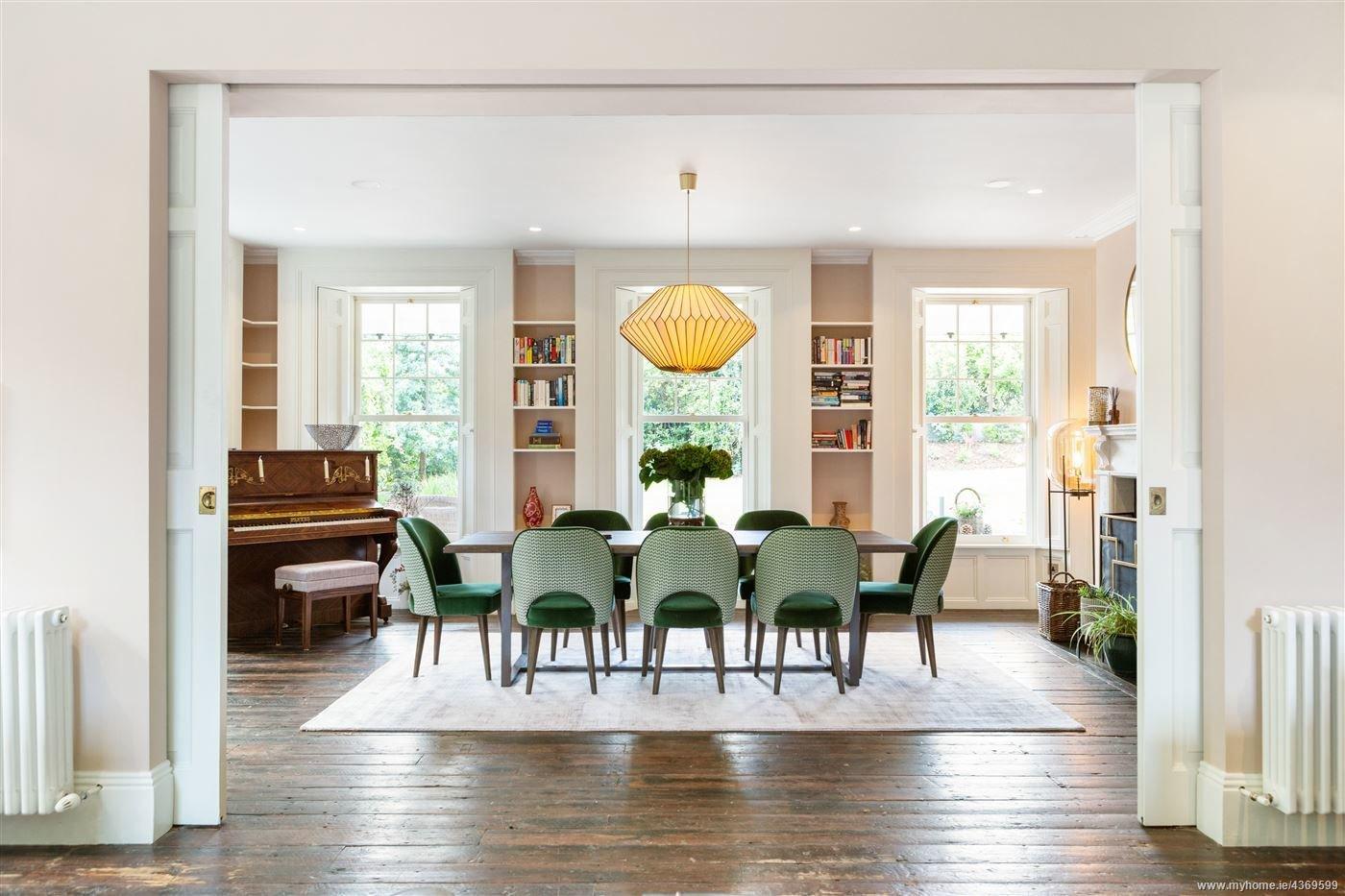 Saoirse Ronan Pine Lodge Ireland real estate dining room