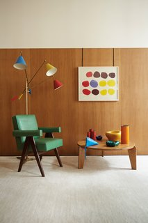 The fundamentals of Emmanuel de Bayser's Berlin apartment toe the line of cool, muted modern design. Yet there's a trick at play: by adding distinct shots of color, de Bayser gives every room its own richly hued rainbow and, in doing so, creates a personal paean to the more playful side of midcentury design.