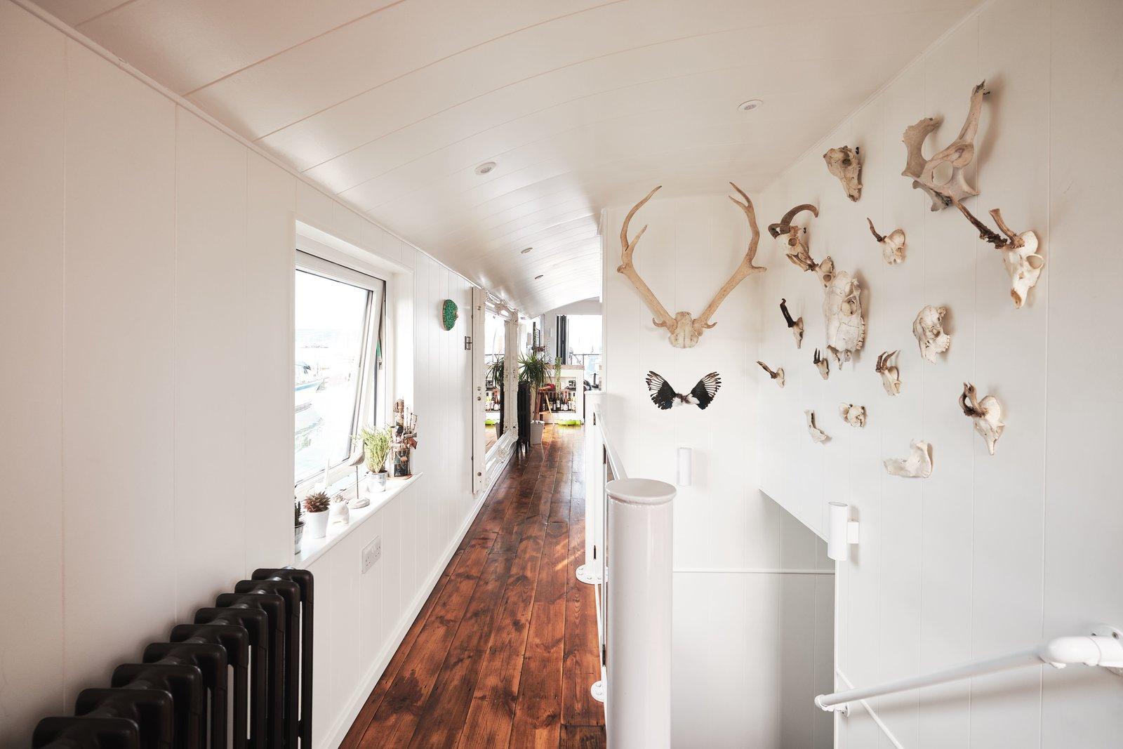 Gosport double-decker houseboat hallway