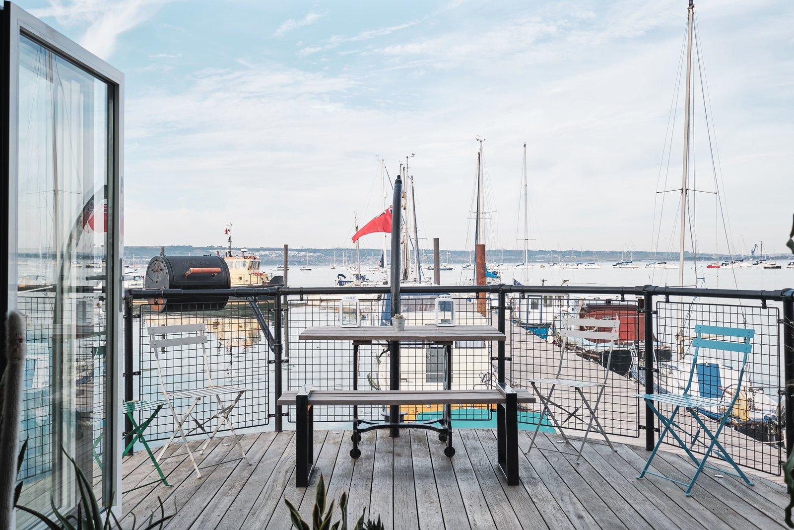 Gosport houseboat deck